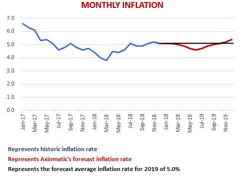 2019 SA Monthly Inflation graph